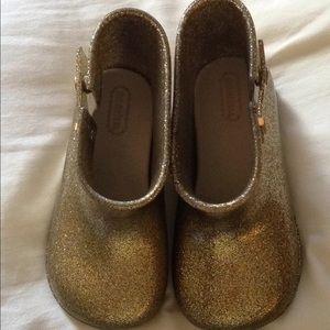 Mini Melissa gold/silver rain boots